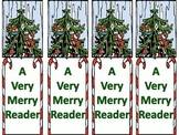 "Free! Christmas Bookmarks ""A Very Merry Reader."""