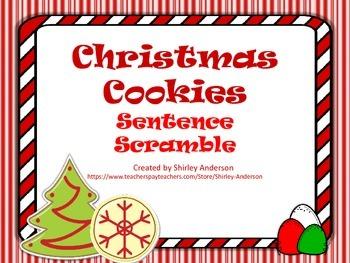 Freebie- Christmas Cookies Sentence Scramble