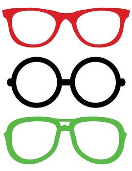 Freebie- Christmas Holiday Glasses Printable Photo Booth P