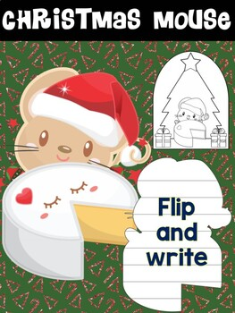 Freebie: Christmas Mouse with Cheese Block (A) - MOONJU MAKERS - Flip and Write