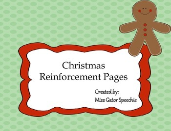 Freebie! Christmas Reinforcement Pages