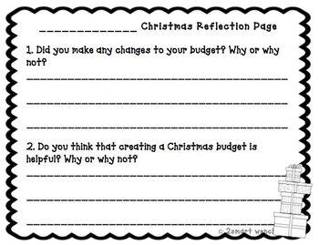 Freebie! Christmas Shopping Budget