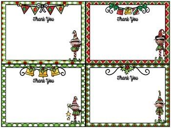 Freebie!  Christmas Thank You Notes