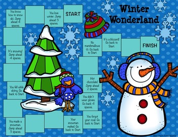 Freebie Christmas & Winter Game Boards