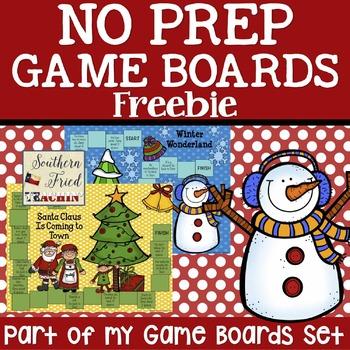 Freebie Christmas & Winter Game Boards