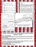 Freebie Christmas Worksheets