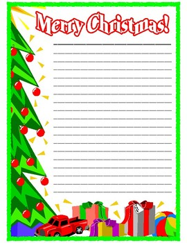 Freebie Christmas Writing Paper