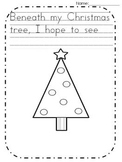 Freebie Christmas tree writing page Kindergarten