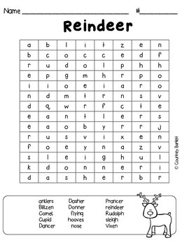 Freebie Christmas word searches