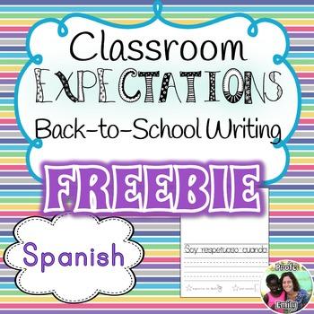 Free Sample: Classroom Expectations Spanish Writing Mini-Books