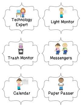 Freebie Classroom Jobs