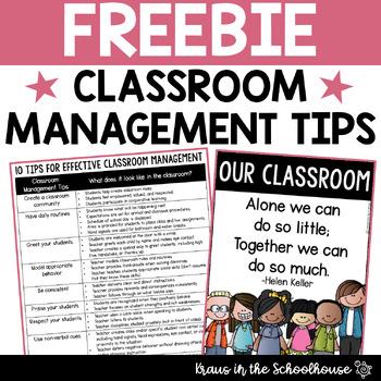 Freebie! Classroom Management Tips