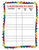 Freebie Classroom Sign Out Sheet
