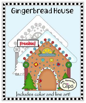 Freebie! Clip Art - Gingerbread House