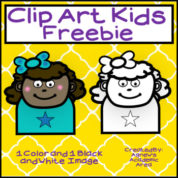 Freebie - Clip Art Kids Sample - Commercial Use Allowed