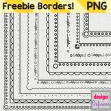 Freebie Clipart: Doodle Borders