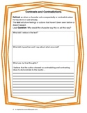***Freebie*** Close Reading Contrast/Contradiction Partner