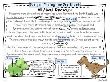 Close Reading Passages: Dinosaur Edition {Freebie}
