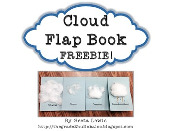 *Freebie* Cloud Flap Book
