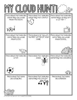 Cloud Hunt Bingo FREEBIE - Perfect Garden Club activity!