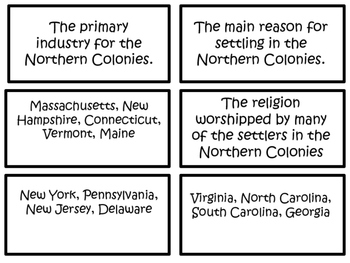 Freebie Colonial America Bingo