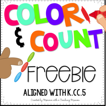 Freebie Color and Count Cardinality Printables