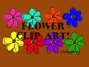 Colorful Flower Clip Art Pack