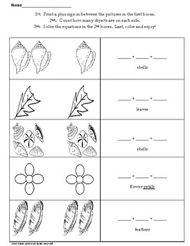 Coloring and Addition worksheets grades K-2