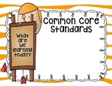 Freebie Common Core Standards Poster
