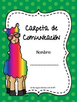 Freebie: Communication Folder Covers & Pocket Covers (Llama Theme)