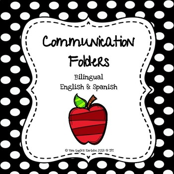 Communication Folder Covers and Pocket Covers (Apple Theme)