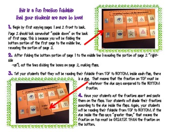 {Freebie!} Comparing Fractions Foldable 3.NF.3d