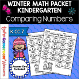 Comparing Numbers Winter Worksheets - Comparing Numbers K.CC.7