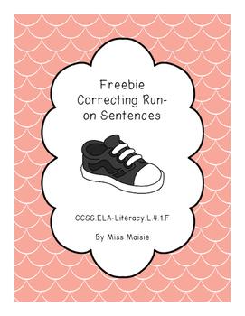 Freebie Correcting Run-On Sentences