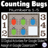 Freebie - Counting Bugs Numbers 1 to 5 - Distance Learning