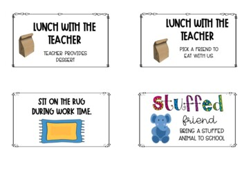 *Freebie* Coupons to use in your classroom that are FREE