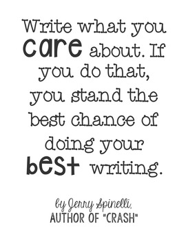 Freebie! Crash by Jerry Spinelli Quote Poster | TpT