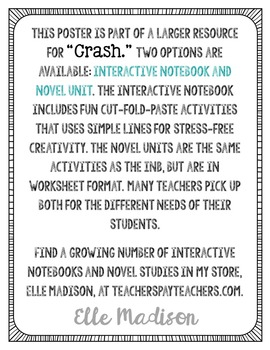 Freebie! Crash by Jerry Spinelli Quote Poster