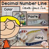 """Decimal Place Value """"Number Line"""""""
