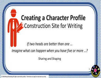 Freebie 'Creating a Character Profile' Class PowerPoint