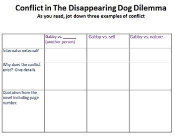 Freebie! The Disappearing Dog Dilemma novel study