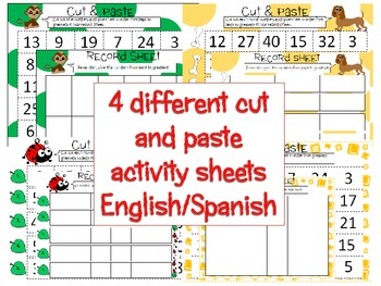 Freebie - Cut & Paste Numbers Activity Sheets