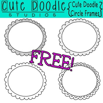 Freebie} Cute Doodle Circle Frames by The First Grade Diaries | TpT