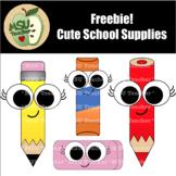 Freebie Cute School Supplies