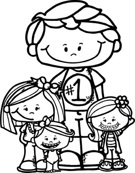Freebie Dad and Kids clipart