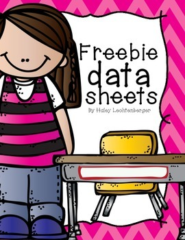 Freebie Data Sheets for the Classroom