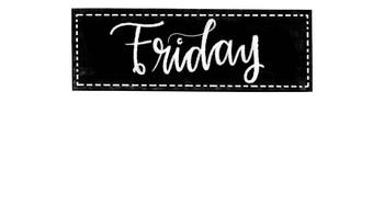 Freebie! Days of the week labels