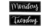 Freebie! Days of the week labels