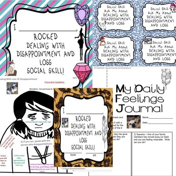 Dealing w/Loss Or Disappointment Worksheets ONLY Social Skill