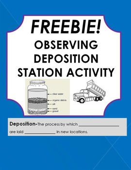 Freebie! Deposition in a Jar Station Activity- Part of a l
